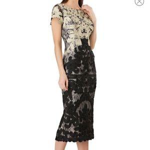 Never Worn Boatneck Embroidered Midi Dress
